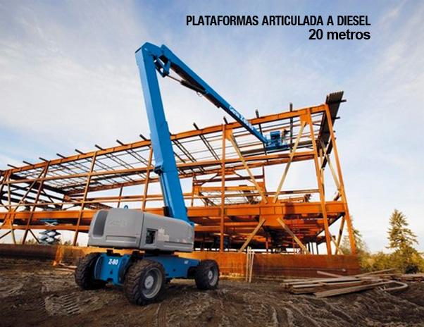 Lokan - Plataformas Elevatórias – Articuladas a Combustão (Diesel)