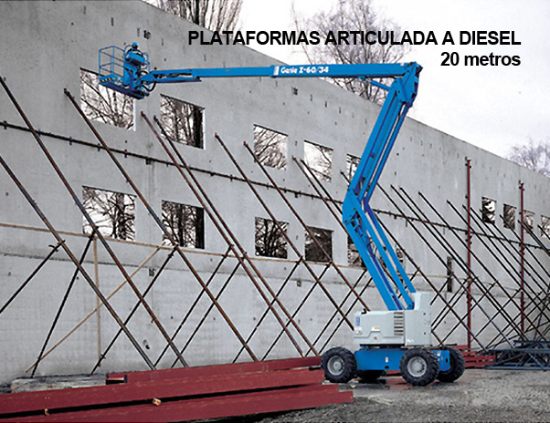 Lokan - Plataforma Elevatória – Articulada Diesel – 20 mt